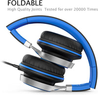 Wired Headphones with Microphone and Volume Control Folding Lightweight