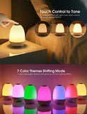 Night Light Bluetooth Speaker, Touch Control 7-Color Table Lamp, Rechargeable LED