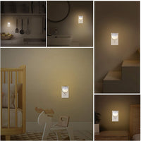 Night Light Dusk-to-Dawn Motion Sensor for Hallways, Stairs