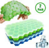 Ice Cube Trays, Lilinera 2 Pack Silicone Ice