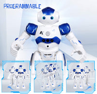 RC Robot Toy, Programmable Intelligent Walk Sing Dance Robot for Kids Gift Present, Blue