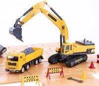 Construction Site Vehicles Toy Set, Kids Engineering Playset