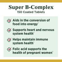 Vitamin B Complex by Nature's Bounty, Super B Complex Vitamins w/ Vitamin C for Immune Support