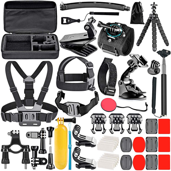 50-In-1 Action Camera Accessory Kit Compatible with GoPro Hero 8 Max 7 6