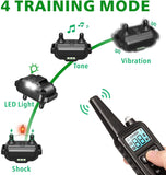 Dog Training Collar Upgraded 2600 Ft Rechargeable 4 Modes Collar