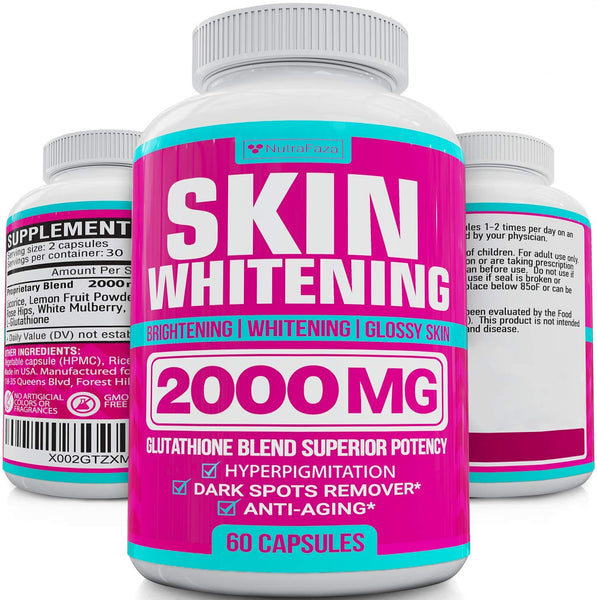 Skin Whitening Pills - Vegan 2000 mg 60 capsules