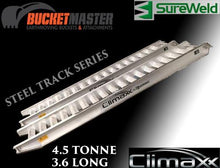 "Load image into Gallery viewer, Sureweld 4.5 Tonne 3.6m ""Climaxx"" T Series Aluminium Loading Ramps for Steel & Rubber Tracks"