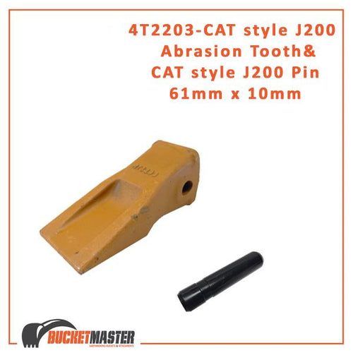 CAT style J200 Abrasion Tip Tooth Side Pin 2.0 + CAT J200 Side Pin