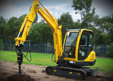 Load image into Gallery viewer, DIGGA AUGER 200mm DIA up to 4.5T - 65mm Round Shaft, EXCAVATOR, SKID STEER, LOADER, BOBCAT