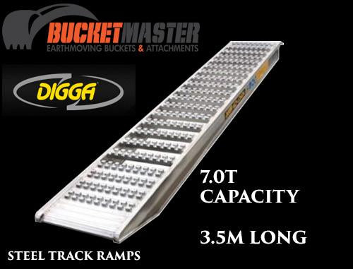 """Ezi-Loada""  Digga 7.0 Tonne Loading Ramps for Excavator, Bobcat or Positrack"