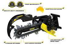 Load image into Gallery viewer, DIGGA BIGFOOT TRENCHER - Suits up to 5T - COMBO Chain - EXCAVATOR, SKID STEER, LOADER, BOBCAT