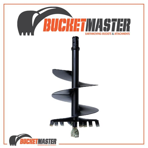 DIGGA AUGER 150mm DIA Suits 10T-20T - 75mm Square Shaft, EXCAVATOR, SKID STEER, LOADER, BOBCAT