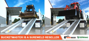 "Sureweld 4.5 Tonne 3.6m Long ""PT Series"" Extra Wide Loading Ramps for Rubber Tracks & Rubber Tyres"