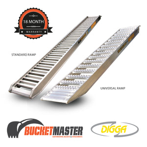 """Ezi-Loada""  Digga 2.3 Tonne Loading Ramps for Excavator, Bobcat or Positrack"