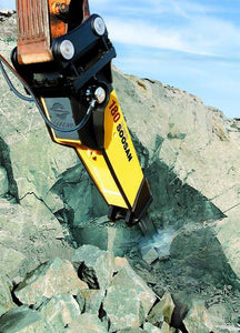 SOOSAN SQ45 ROCK BREAKER 7-15 TONNE