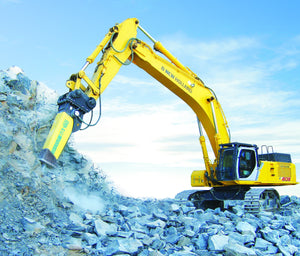 SOOSAN SQ140 ROCK BREAKER 36-50 TONNE