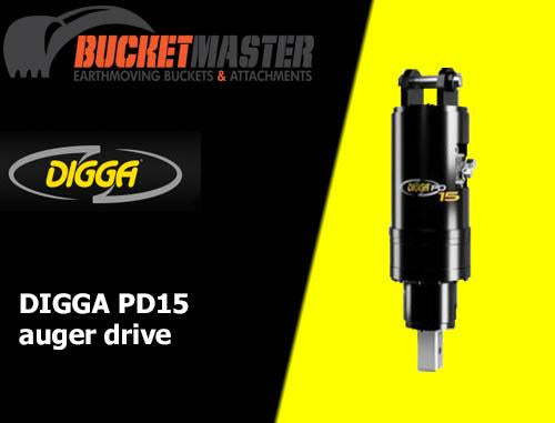 DIGGA PD15 AUGER DRIVE - 75mm Square Shaft, EXCAVATOR, SKID STEER, LOADER, BOBCAT