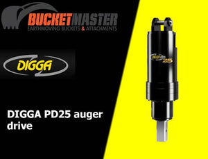 DIGGA PD25 AUGER DRIVE - 100 mm Square Shaft, EXCAVATOR, SKID STEER, LOADER, BOBCAT