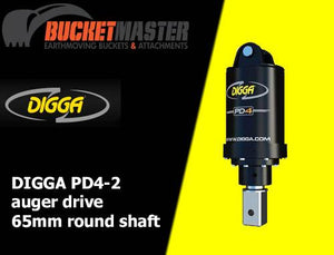 DIGGA AUGER COMBO PACKAGE - PD4 AUGER DRIVE+450Di AUGER +DOUBLE PIN HITCH - FOR EXCAVATOR