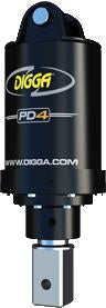 DIGGA AUGER COMBO PACKAGE - PD4 AUGER DRIVE+450Di AUGER +FIXED CENTRE FRAME - FOR SKID STEER