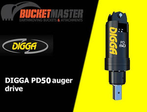 DIGGA PD50 AUGER DRIVE - 100 mm Square Shaft, EXCAVATOR, SKID STEER, LOADER, BOBCAT
