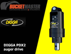DIGGA AUGER COMBO PACKAGE - PDX2 AUGER DRIVE+200Di AUGER +DOUBLE PIN HITCH - FOR EXCAVATOR