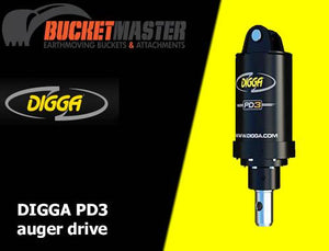 DIGGA AUGER COMBO PACKAGE - PD3 AUGER DRIVE+300Di AUGER +DOUBLE PIN HITCH - FOR EXCAVATOR