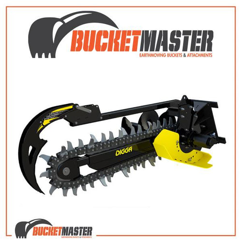 DIGGA BIGFOOT XD TRENCHER 1200MM - Suits 5T-8T - EARTH Chain - EXCAVATOR, SKID STEER, LOADER, BOBCAT