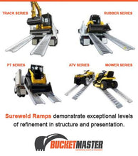 "Load image into Gallery viewer, Sureweld 6 Tonne ""Climaxx"" Aluminium Loading Ramps for Rubber Tracks & Rubber Tyres"