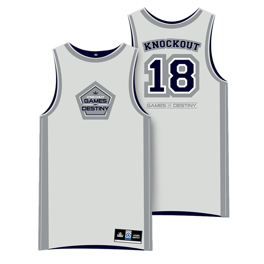 Knockout 2018 Basketball Jersey (Light Grey)