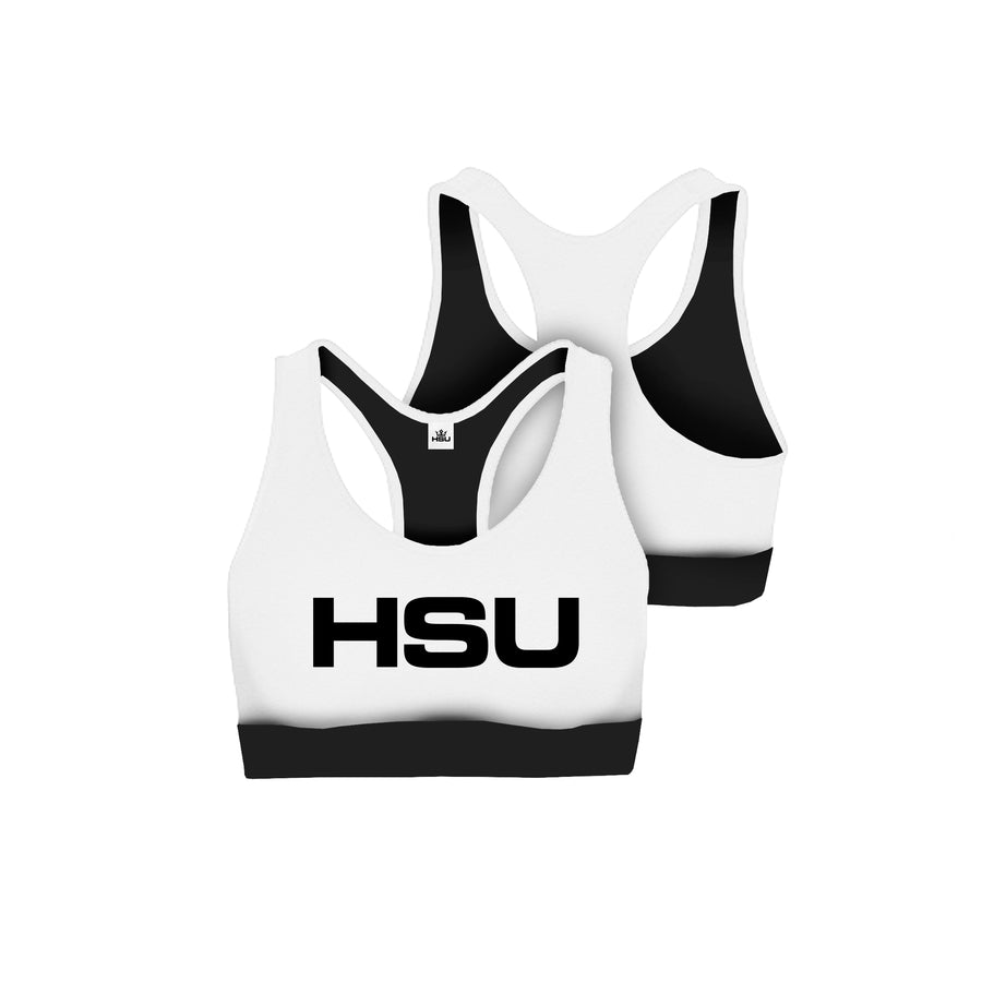 HSU Sports Bra (White)
