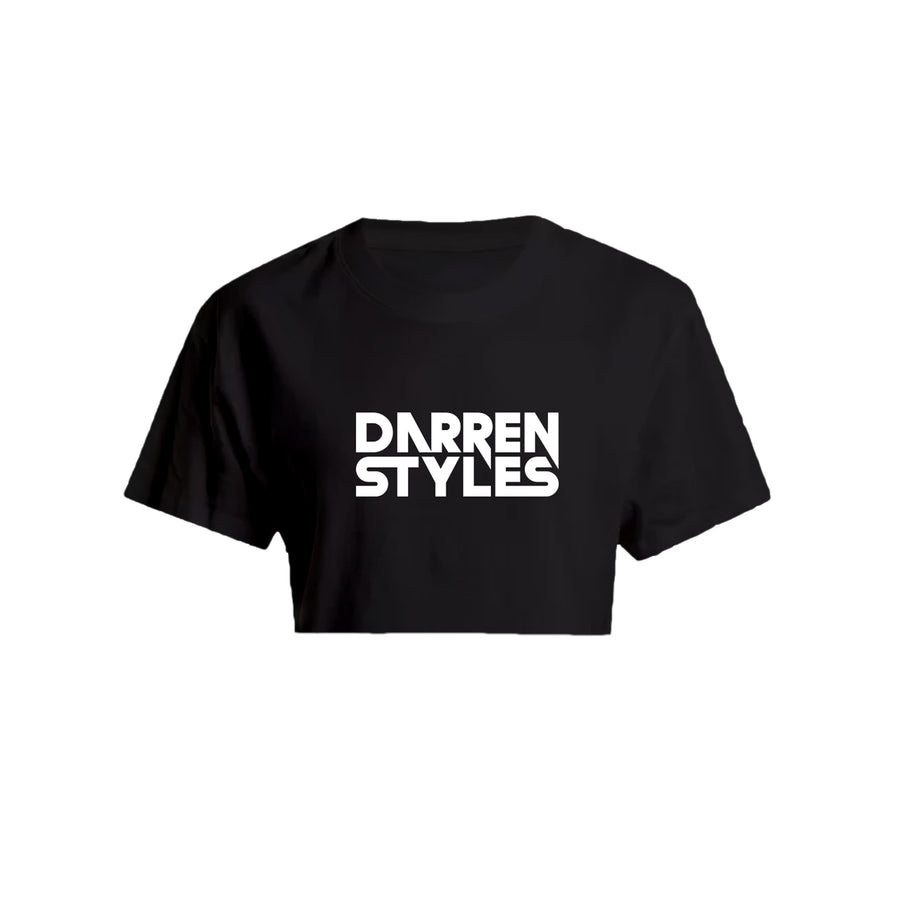 Darren Styles Crop Top (Chest Print) (Black)
