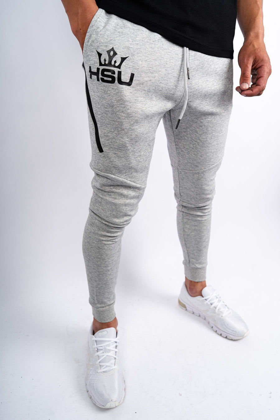 Tapered Trackies x Marble Grey