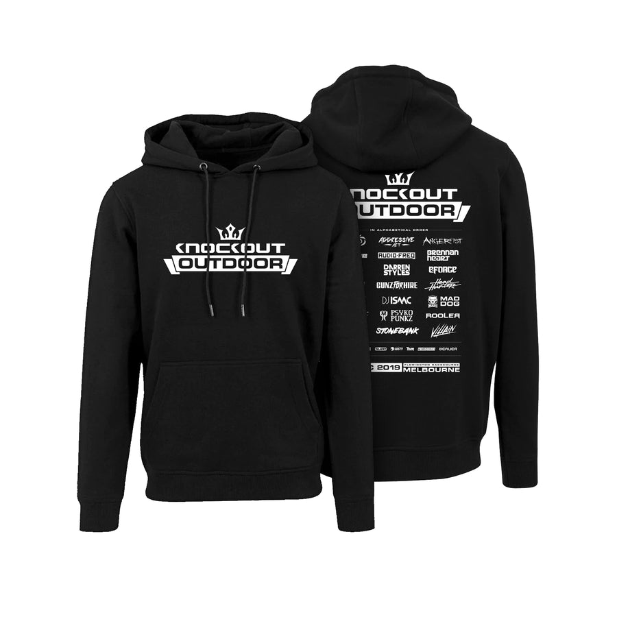 Knockout 2019 Hoodie (White & Black)