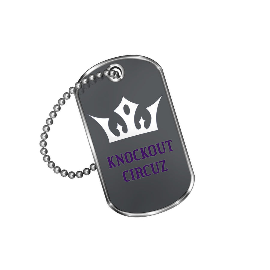 Knockout Circuz Dog Tag (Purple)