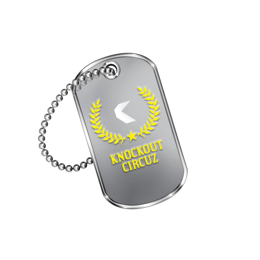 Knockout Circuz Dog Tag (Yellow)