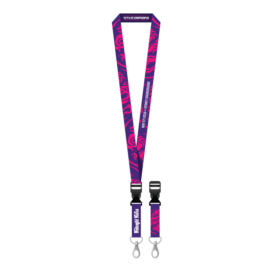 Midnight Mafia 2018 Lanyard (Purple)