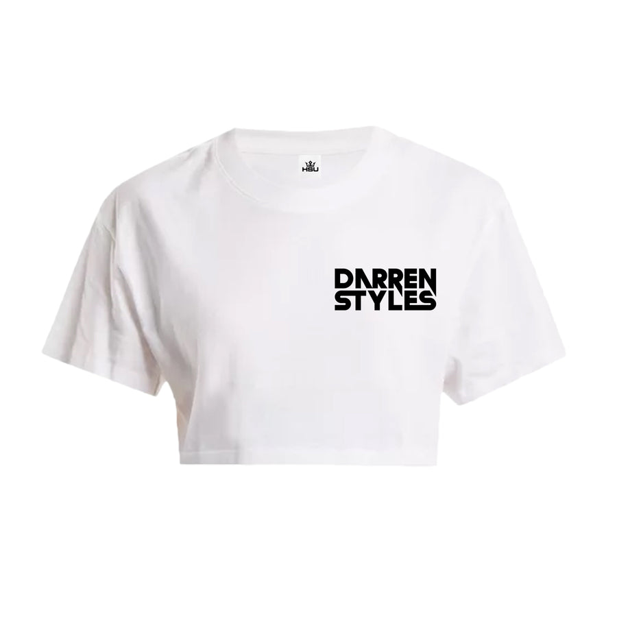 Darren Styles Crop Top (Pocket Print) (White)