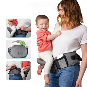 Hip Seat Baby Carrier -  Adjustable, Machine Washable, Ergonomic