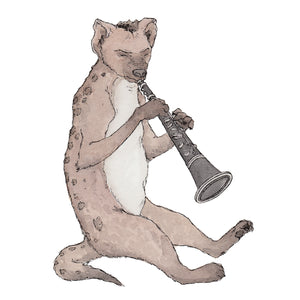 The Hyena & His Clarinet - A5 Art Print