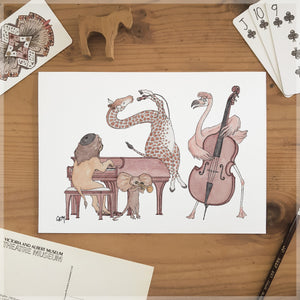 The Jazz Swingers - A5 Art Print