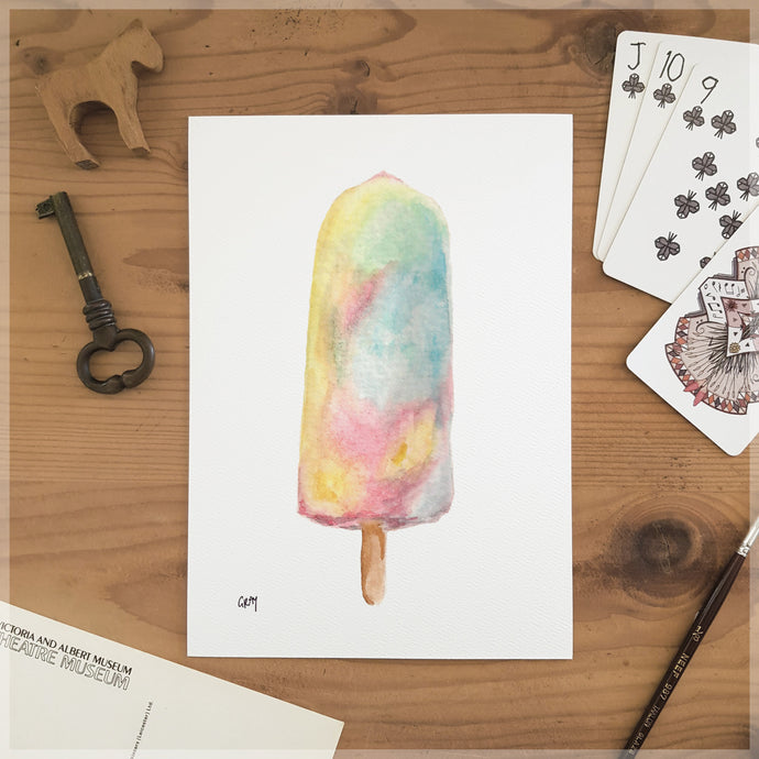 Paddlepop Rainbow - A5 Art Print