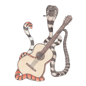 The Cobras & Their Classical Guitar - Greeting Card