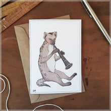 The Hyena & His Clarinet - Greeting Card
