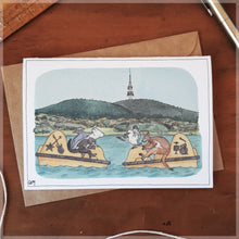 Bumper Boats in Canberra - Greeting Card