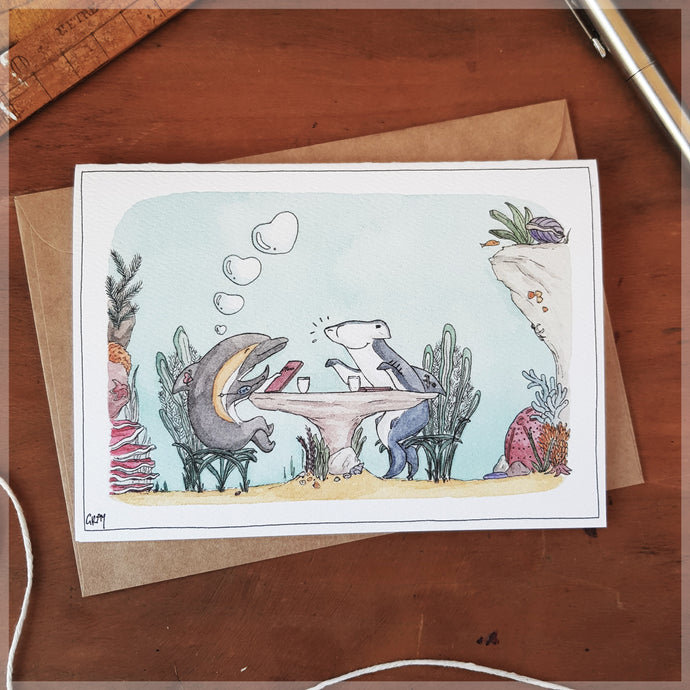 Great Barrier Romance - Greeting Card
