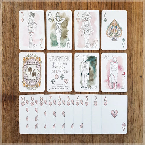 Burlesque - Hand Illustrated Playing Card Pack ~ Art Deco Dancers