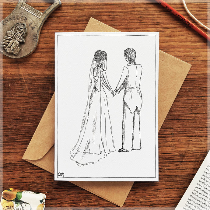 Bride & Groom - Greeting Card
