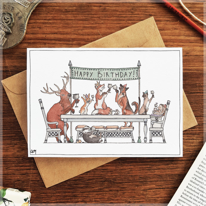 Party First, Presents Later! - Greeting Card