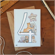 4th Birthday - Greeting Card
